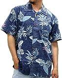 ROUSHATTE(ルーシャット) 大きいサイズ メンズ シャツ 半袖 アロハシャツ 柄B LL