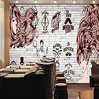 Xbwy 壁紙3 Dヨーロッパスタイルのヘアサロン理髪店のテーマの背景壁壁画理髪店カスタム高品質の壁紙-150X120Cm