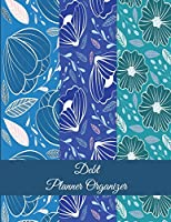 Debt Planner Organizer: Art Floral Blue Color, Bill Pay Planner, Bill Pay Checklist Large Print 8.5 X 11 Financial Money Planning, Monthly Bill Payment Planner, Bill Repayment Tracker, Debt Payment Tracker