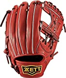 ZETT(ゼット) 野球 軟式 セカンド・ショート グラブ(グローブ) プロステイタス (右投げ用) BRGB30710 ボルドーブラウン