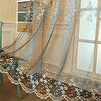 花刺繍 半薄い カーテン エレガンス レース セーリング リビング ルーム 遮光カーテン 夢のような ロマンチック, 1 パネル-F 150x260cm(59x102inch)