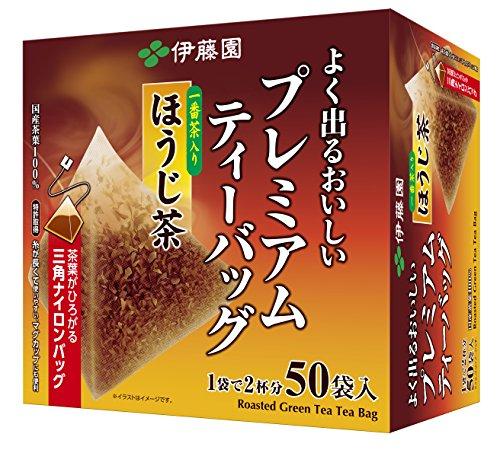 伊藤園 おーいお茶 プレミアムティーバッグ 一番茶入りほうじ茶 50袋