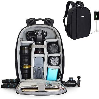 CADeN カメラバッグ カメラリュック 一眼レフ 多機能防水旅行三脚収納 大容量 撥水生地 軽量通気カメラバッグ