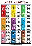 ハッピークローバー 【かけざん 九九ポスター】学習ポスター 99 【お風呂で使える】