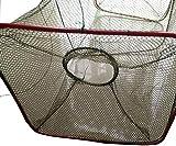 魚捕り 網かご 捕獲アミ 立柱形 餌を入れて沈めるだけで簡単に魚が捕れる 漁具 仕掛け 3枚 セット