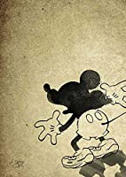 Shadow Mickey A4サイズ 【ペーパーポスター】 #hi51b STAR DESIGN A4 (210 x 297mm) #Chihiro