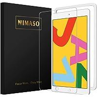 【ガイド枠付き】Nimaso iPad 10.2 (8世代 2020) ガラスフィルム iPad 7世代 2019 フィ…