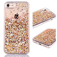 iPhone 6S Plus Case Shinymore Full Protection Soft Bumper Case 3D Creative Sparkle Dynamic Liquid Flowing Floating Glitter Bling Diamond Moving Quicksand Case for iPhone 6 Plus & 6S Plus (Gold) [並行輸入品]