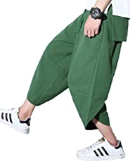 Ninkisann パンツ メンズ サルエル アラジン カジュアル ヒップホップ 7分丈 スウェット 無地 ポケット付け オールシーズン対応 ズボン