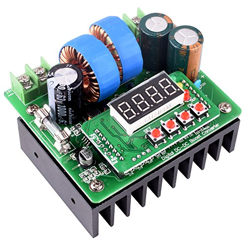 Quimat 昇圧型DC電源 デジタル 400W 10A 可変電圧 DC-DC ステップアップ コンバータ 定電圧 電流ブースト 電源モジュール 8-80vディジタル制御 QY02