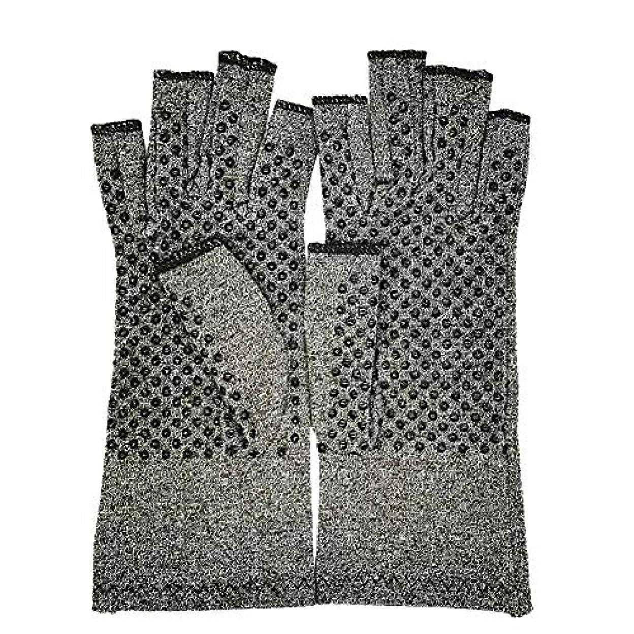 霧汚染する逆着圧引き締め手袋 手袋 指無しタイプ 関節炎手袋 グローブ 治療的圧縮 滑り止め付き 回復 男女共用 指の痛みを和らげる 男性 女性