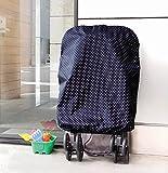 水玉ベビーカーカバー 【撥水加工済!上からかぶせるだけの簡単装着。雨・埃・花粉よけに】