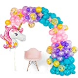 CozofLuv Birthday Decorations For Girls Party Supplies Unicorn Party Decorations for Kids Foil Unicorn Balloons Unicorn Birth