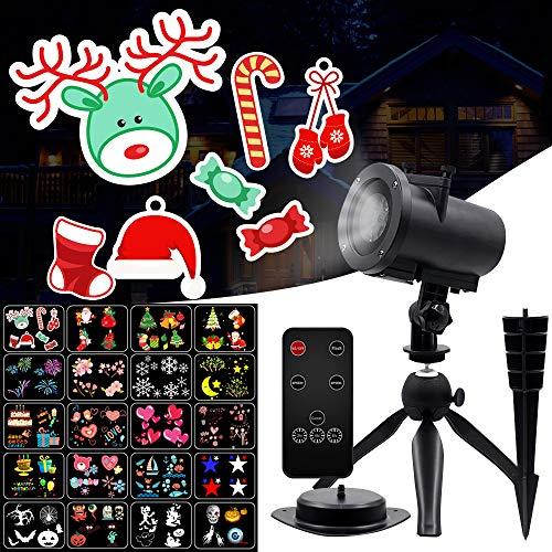 クリスマス プロジェクションライト 投影ランプ ledイルミ...
