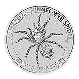 2015年製 スパイダーウェブ銀貨 1オンス クリアケース入り オーストラリアパース造幣局発行 31.1gの純銀 銀地金 高純度 シルバーコイン クモ 蜘蛛 ジョウゴグモ Silver 保証書付き