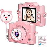 子供用カメラ ZumYu 子供用デジタルカメラ トイカメラ 子供用トイカメラ キッズカメラ キッズデジカメラ 前後2000万画素 1080P録画 2.0インチIPS画面 8倍ズーム 多機能 高画質 自撮り人気のおもちゃカメラ USB充電 32GB S