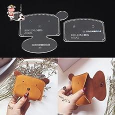 JD 小銭入れ アクリル型紙 レザークラフト用品 (かわいい犬)