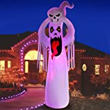 DomKom 10 FT Halloween Inflatable Decorations Giant Terrible Spooky Ghost, Outdoor Holiday Decor Blow Up Halloween Yard Decor