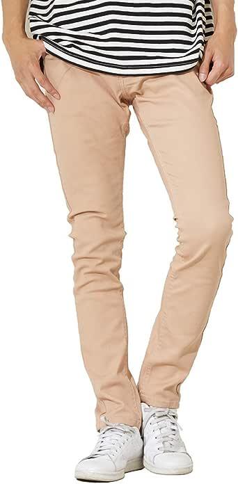 インプローブス チノパン ストレッチ スリム スキニー ストレッチパンツ スキニーパンツ カラーパンツ ズボン メンズ ベージュ XS サイズ