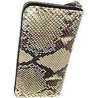 本物 蛇革 ダイヤモンド パイソン長財布 二つ折り レザー 財布 本革 ウォレット 革財布 プレゼントに最適 高級レザー 360066