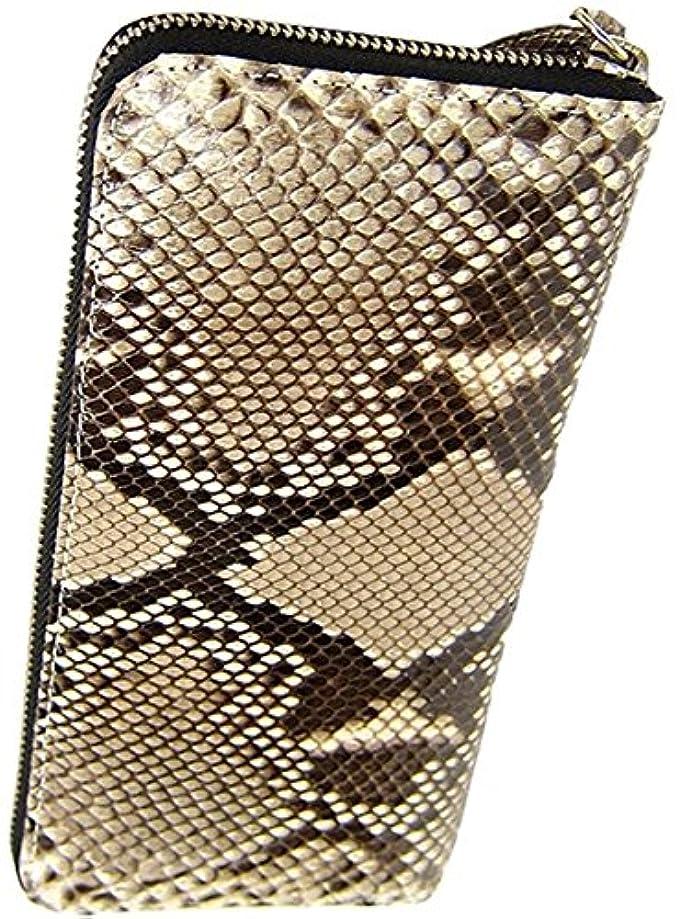 才能のある曲げる成長本物 蛇革 ダイヤモンド パイソン長財布 二つ折り レザー 財布 本革 ウォレット 革財布 プレゼントに最適 高級レザー 360066
