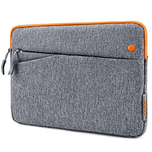Tomtoc スリーブケース インナーケース(10.5インチ New iPad Pro | 9.7インチ New iPad 2017 | iPad Pro | iPad Air 2 | 10.1インチSamsung Galaxy Tab ) スリムカバー対応 アクセサリーポケット付き、Appleスマートキーボード 対応、グレー