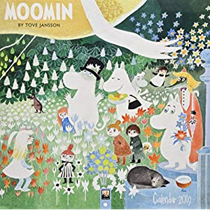 Moomin - Mumins 2019: Original Flame Tree Publishing-Kalender (Square)