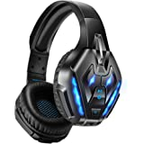 PHOINIKAS Gaming Headset for PS4, PC, Xbox one Headset with 7.1 Sound, Bluetooth Wireless Headset for Phone, Over Ear Headpho