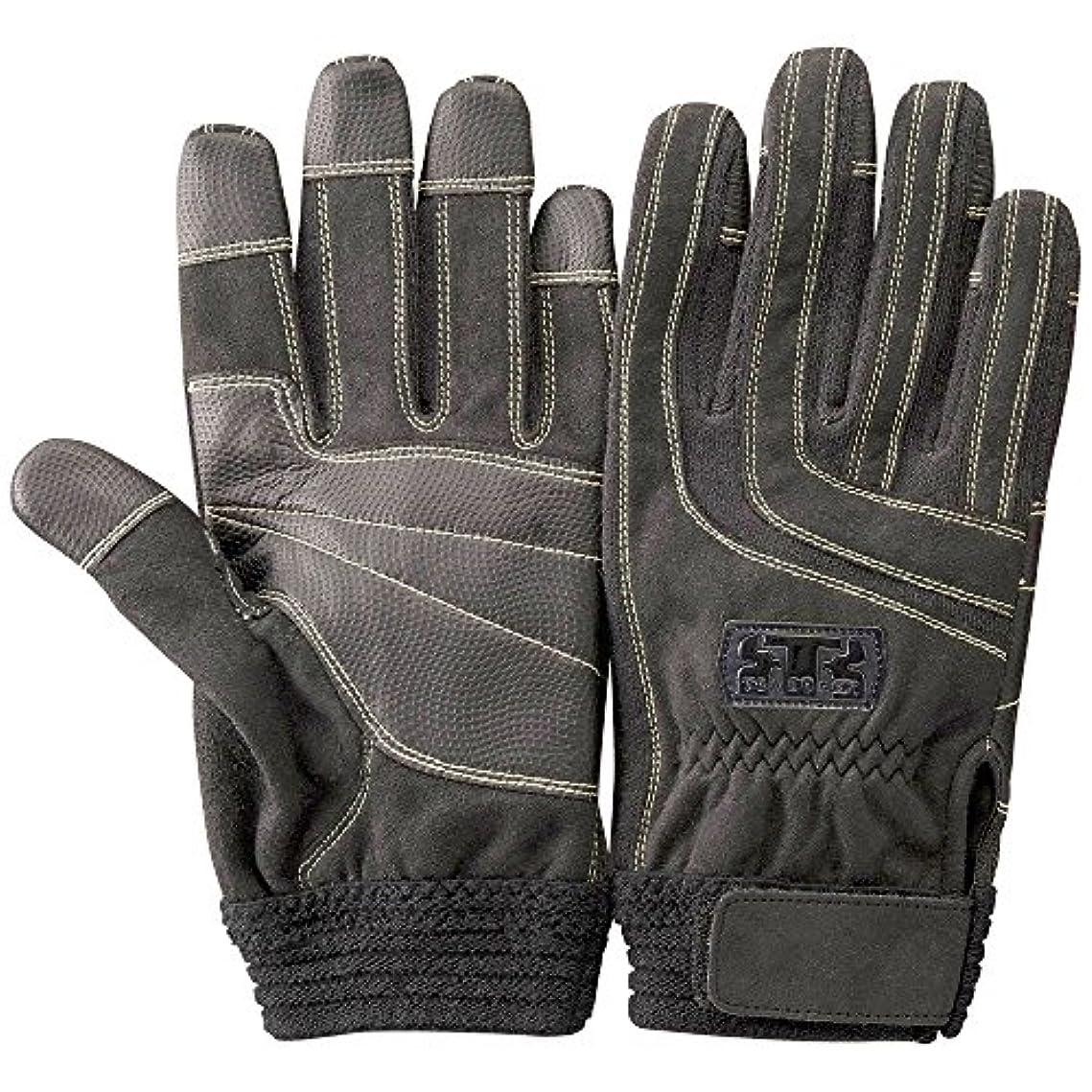 賢い涙が出る復活させるTONBOREX(トンボレックス) レスキューグローブ ケプラー手袋 K-512R ブラック×ブラック Sサイズ