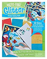 Melissa & Doug Mess-Free Glitter Ocean Party Pack - 10 Sets of Scene Cards and Sticker Sheets to Decorate [並行輸入品]