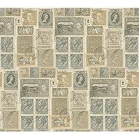 York Wallcoveringsパスポート切手壁紙 Wallpaper GX8179 1
