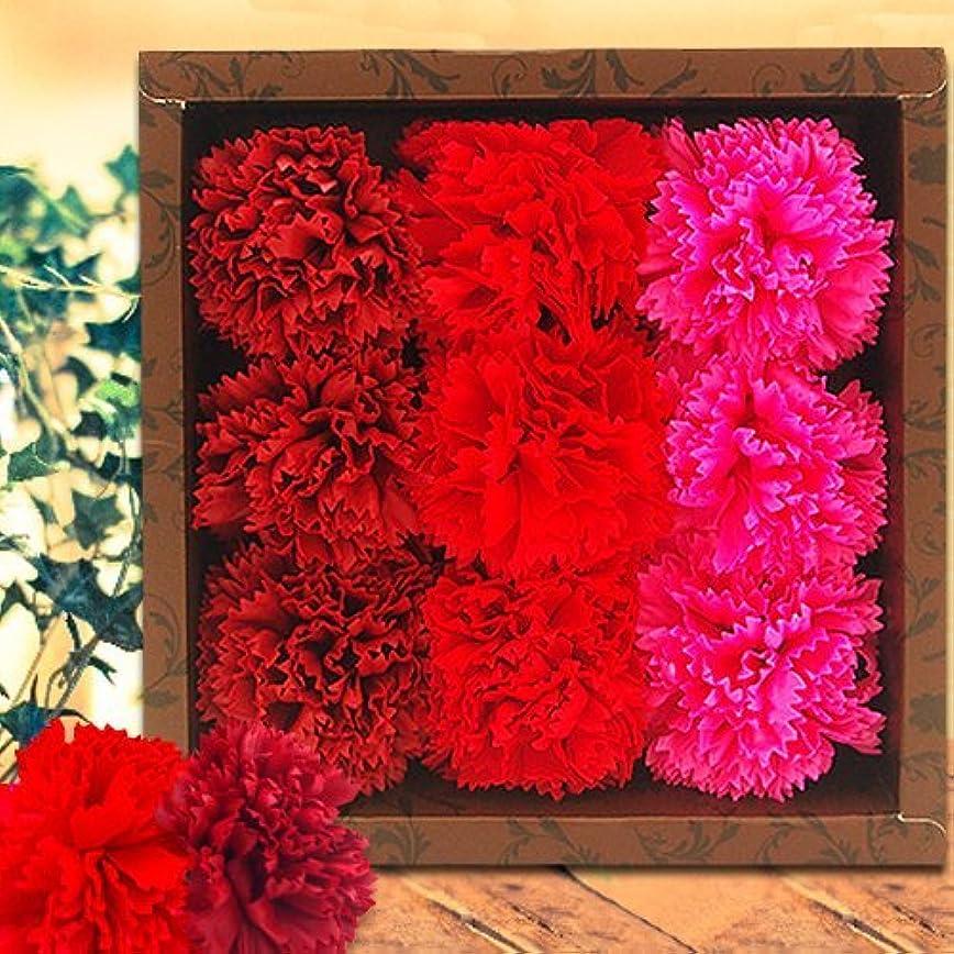 汚染されたスキム抽象フラワーフレグランス(Carnation/Red)
