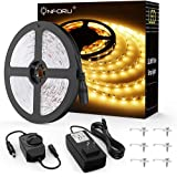 Onforu 33ft Dimmable LED Strip Lights Kit 600 Units SMD 2835 LEDs 12V Under Cabinet Lighting Strips 10M LED Ribbon Non-Waterp