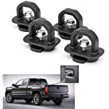 Tie Down Anchors 4Pcs Truck Bed Side Wall Anchor fit for 07-18 Chevy Silverdo/GMC Sierra,15-18 Chevy Colorado/GMC Canyon DZ97