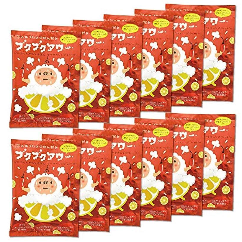 恩恵男記念碑ブクブクアワー マグマ オレンジ フィーバー 入浴剤 40g 1回分×12包入 大容量 まとめ買い