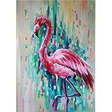 TAHEAT Flamingo Diamond Art 5D Animal Diamond Painting,Diamond Painting by Number Kit for Adult Rhinestone Crystal Embroidery