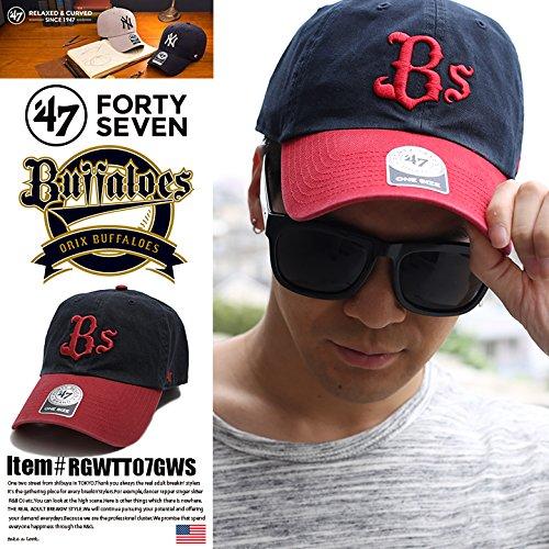 【RGWTT07GWS】フォーティーセブンブランド 47BRAND 帽子 CAP ベースボール ボールキャップ NPB 日本プロ野球 オリックス・バファローズ コラボ つば カーブ 正規品