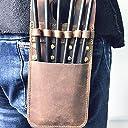 矢筒 矢の袋 弓矢の道具 ポケット アーチェリー用 コンパウンドボウ リカーブボウの矢 (茶色)