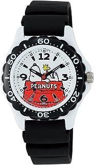 [シチズン キューアンドキュー]CITIZEN Q&Q 子供用腕時計 PEANUTS(ピーナッツ) スヌーピー アナログ表示 10気圧防水 ウレタンバンド ホワイト AA96-0015 ボーイズ 【正規輸入品】