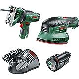 Bosch Cordless Bundle: Sander and Jigsaw (1 Battery, 10.8 Volt)