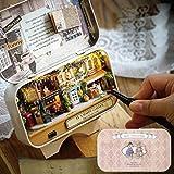 Hongfei 3D DIYドールハウスキット ミニチュアおとぎ話ボックスシアター おもちゃ誕生日/子供/女の子/子供/女性/大人 ツールを使って - 幸運な街角