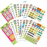 Best Planner Variety Stickers Set (Qty 860+) for Busy Moms for Birthdays, Home, Work, Appointments, School Events, Projects, Party, Play Dates, Sports, Family, Water & Fitness Tracking for Any Planner