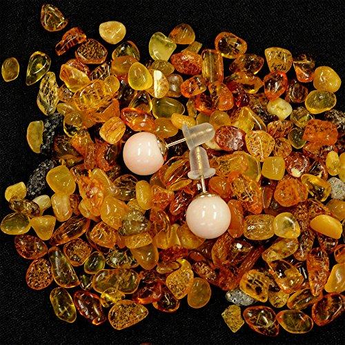 桃色珊瑚 約7.6mm珠 ピアス 10KGF