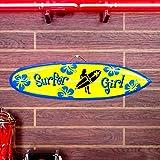 サーフボードピクチャーハンガー「サーファーガール/Surfer Girl」 【インテリア、ハワイアン雑】