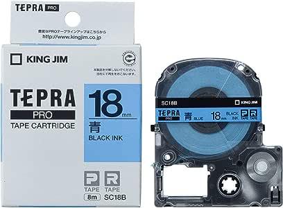 キングジム テープカートリッジ テプラPRO 18mm SC18B 青