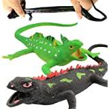 Lizards ToysFood Grade Material TPR Super Stretchy9-inch Rubber Lizard Figure Realistic Set(2 PACKS) For Party Favors Boys Ki
