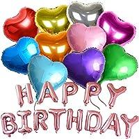 バルーン 誕生日 飾り付け 風船 Happy Birthday 35cm バースデー 飾り ハートバルーン カラフル