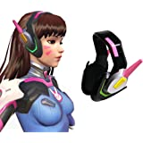 Overwatch D.Va Cosplay Headset - Official Licensed - Hana Song Cosplay Accessories PinkCosplay Props ONLY