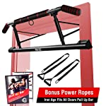 Iron Age Pull Up Bar for Doorway - Angled Grip Home Gym Exercise Equipment - Pullupbar with Shortened Upper Bar and Bonus...