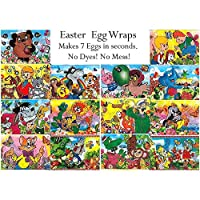 7 Cartoon Characters Easter Egg Wraps